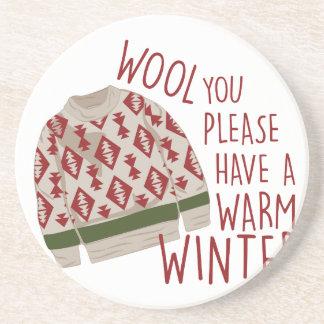 Warm Winter Beverage Coasters