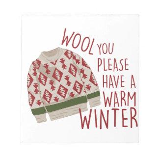 Warm Winter Notepads