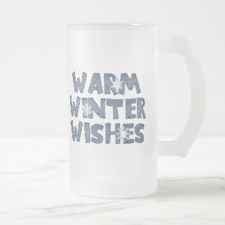 Warm Winter Wishes Frosted Mug