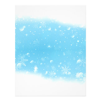 Warm Winter Wonderland with Snowflakes Letterhead