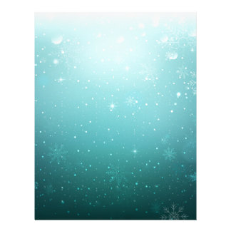 Warm Winter Wonderland with Snowflakes Letterhead Template