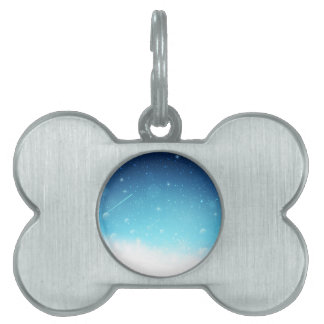 Warm Winter Wonderland with Snowflakes Pet ID Tags