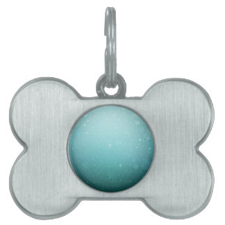 Warm Winter Wonderland with Snowflakes Pet Tag