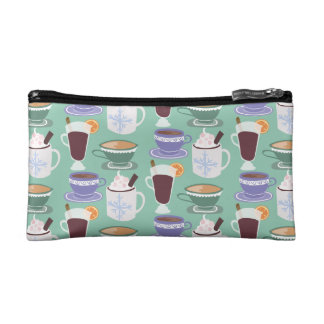 Warm Wintery Drinks Print Cosmetic Bag