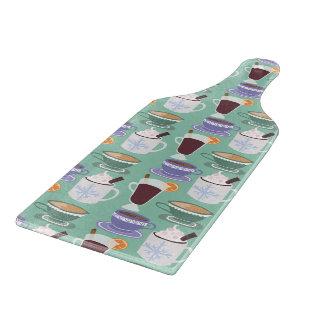 Warm Wintery Drinks Print Cutting Board