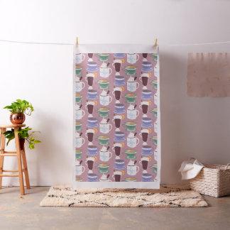 Warm Wintery Drinks Print Fabric