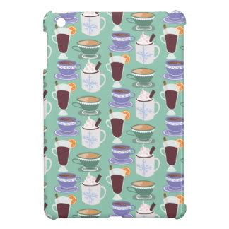 Warm Wintery Drinks Print iPad Mini Cover