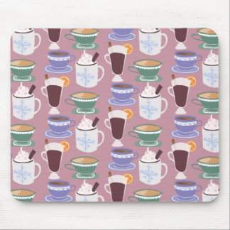 Warm Wintery Drinks Print Mouse Pad
