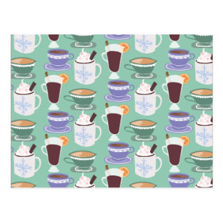Warm Wintery Drinks Print Postcard