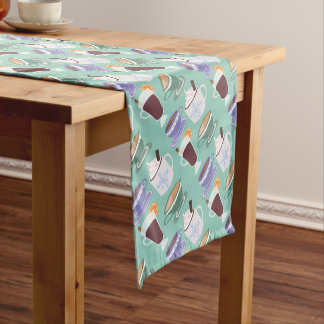 Warm Wintery Drinks Print Short Table Runner