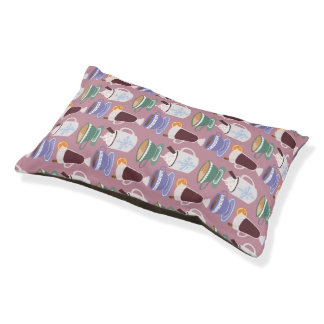 Warm Wintery Drinks Print Small Dog Bed