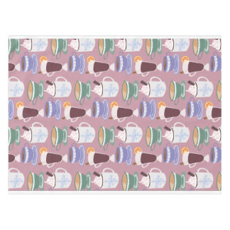 Warm Wintery Drinks Print Tablecloth