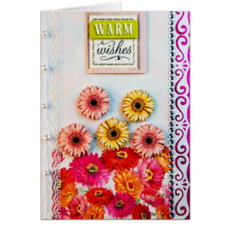 Warm Wishes Brithday Greeting Card