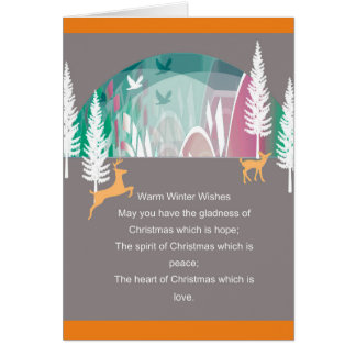 Warm Wishes Christmas Greeting Card