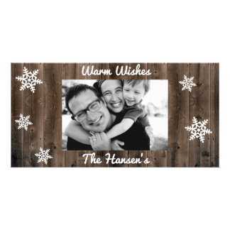 Warm Wishes Customizable Christmas Photo Card Template