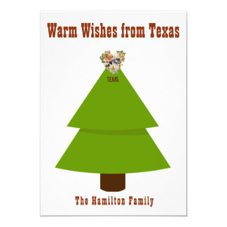 Warm Wishes from Texas this Holiday Season Card