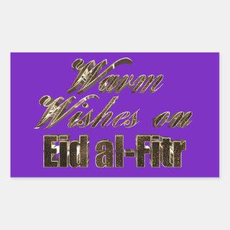 Warm Wishes on Eid al-Fitr Purple Gold Typography