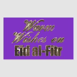 Warm Wishes on Eid al-Fitr Purple Gold Typography Sticker