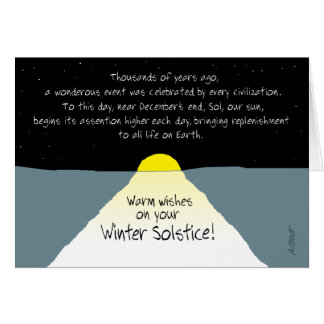 Warm Wishes on Your Winter Solstice! Card