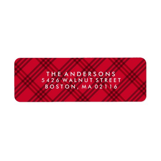 Warm Wishes | Plaid Holiday Address Labels