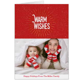 Warm Wishes Sunburst| Photo Card