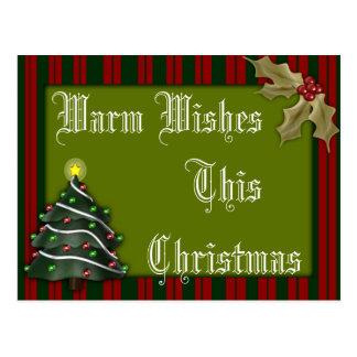Warm Wishes This Christmas Custom Holiday Postcard
