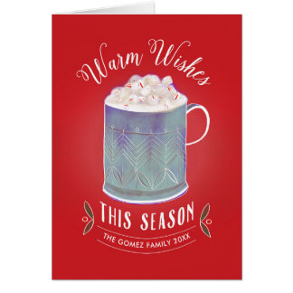 Warm Wishes This Season Peppermint Hot Cocoa Mug Card