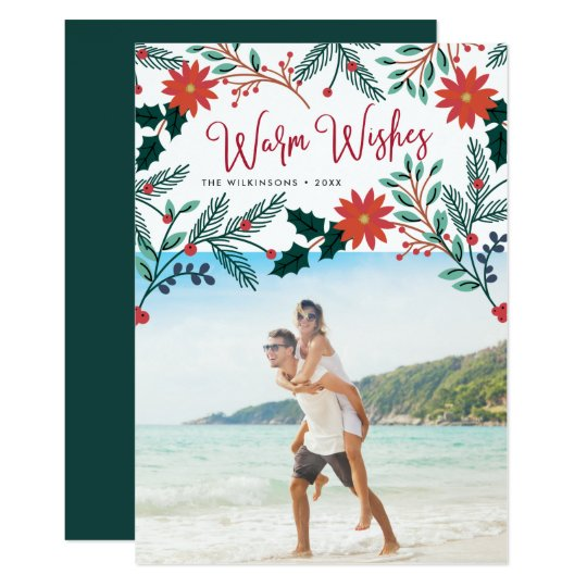 Warm Wishes | Tropical Christmas Photo Card