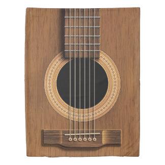 Warm Wood Acoustic Guitar Duvet Cover