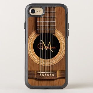 Warm Wood Acoustic Guitar OtterBox Symmetry iPhone 8/7 Case