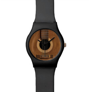Warm Wood Acoustic Guitar Watch