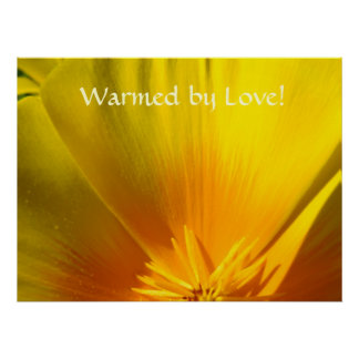 WARMED BY LOVE! Art Prints Canvas Artwork Poppies Poster