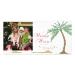 Warmest Holiday Wishes, Christmas Beach Palm Tree Photo Cards