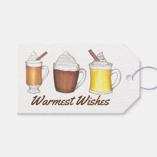Warmest Wishes Cocoa Egg Nog Holiday Gift Tag