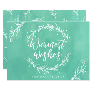Warmest Wishes Holiday Wreath & Watercolour Card