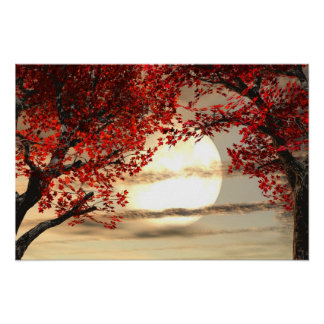 Warming and Peaceful Trees Poster