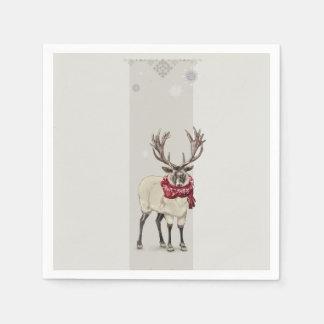 'Warmly Clothed Deer' Paper Napkins