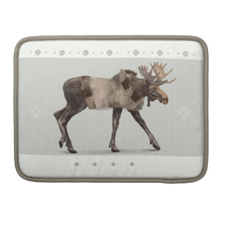 'Warmly Clothed Moose' Sleeve For MacBooks