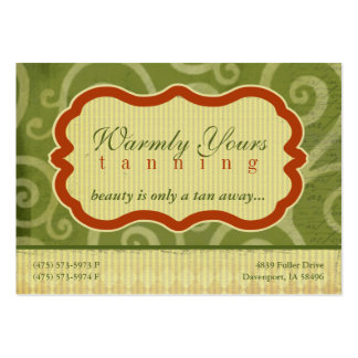 Warmly Yours green Chubby Business Cards