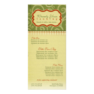 Warmly Yours [light] Rack Cards