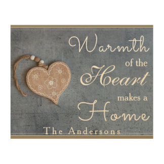 Warmth of the Heat Makes a Home Wood Wall Plaque Wood Prints