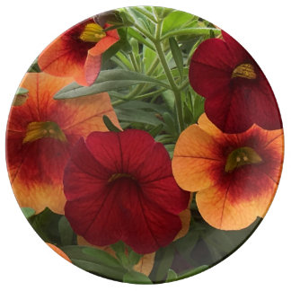 Warmth Of The Sun Floral Porcelain Plate
