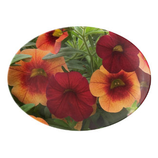 Warmth Of The Sun Floral Porcelain Serving Platter