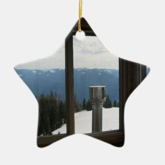 Warner Mountain Fire Lookout Ceramic Ornament