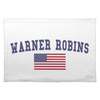 Warner Robins US Flag Place Mats