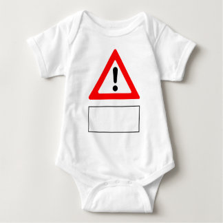 WARNING add your own personalised text Baby Bodysuit