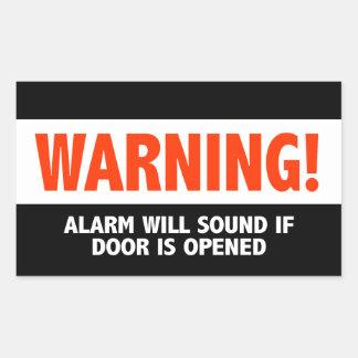 Warning Alarm Will Sound If Door is Opened Sticker