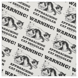 Warning! Approaching Cat Snuggler Three Cats Fabric