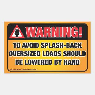 WARNING - Avoid Splash-Back Bathroom Sticker