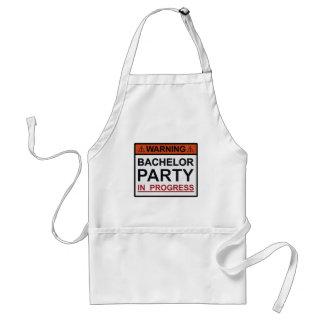 Warning Bachelor Party in Progress Standard Apron